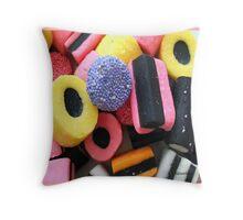 Liquorice Allsorts - You May Take One! Throw Pillow