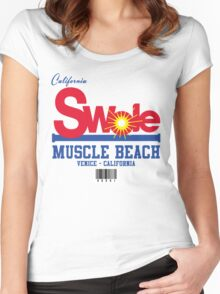 California Swole - Muscle Beach Women's Fitted Scoop T-Shirt