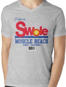 California Swole - Muscle Beach Mens V-Neck T-Shirt