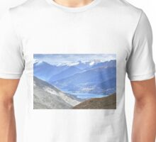 The Remarkable Mountain Range, Queenstown, New Zealand Unisex T-Shirt