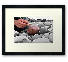Artist and Rock  Framed Print
