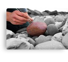 Artist and Rock  Canvas Print
