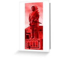 Native, Chief, Indian, Statue, Red, Sunset, America, USA Greeting Card