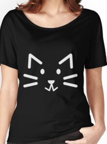 Black Simple Cat Women's Relaxed Fit T-Shirt