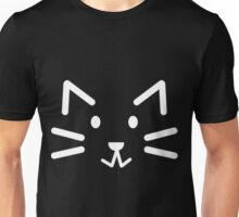 Black Simple Cat Unisex T-Shirt