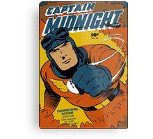 Captain Midnight Comic Cover Metal Print