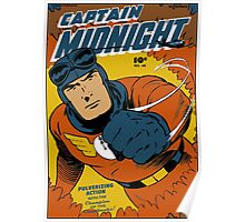 Captain Midnight Comic Cover Poster
