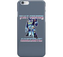 soundwave - that sounds awesome iPhone Case/Skin