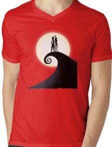 Jack Skellington & Sally Mens V-Neck T-Shirt