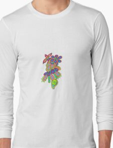 Psychedelic Doodle Long Sleeve T-Shirt