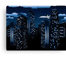 Night Cityscape Background Canvas Print