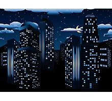 Night Cityscape Background Photographic Print