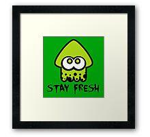 Splatoon Stay Fresh Framed Print