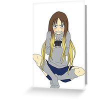 Video Game Girl Anime  Greeting Card