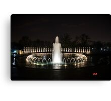 WWII Memorial, Washington DC Canvas Print