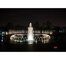 WWII Memorial, Washington DC Photographic Print