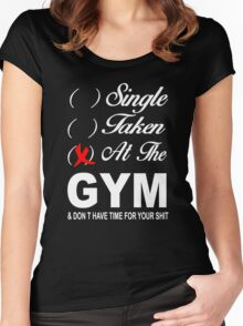 Single - Taken - At the Gym Women's Fitted Scoop T-Shirt