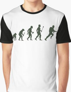 Funny Army Evolution Of Man Graphic T-Shirt