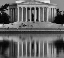 The Jefferson Memorial - Plate No.# VII Sticker