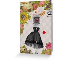Retro Collection --  Candy Girl Greeting Card