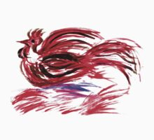 Rooster from Red Strokes One Piece - Short Sleeve