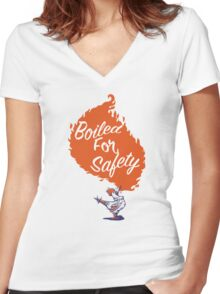 Good Mythical Morning Boiled For Safety Women's Fitted V-Neck T-Shirt