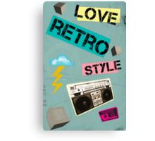 Retro Collection  --  Love Retro Style Canvas Print