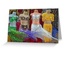 Airy dresses in the wind Greeting Card