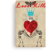 Retro Collection  --  Love Kills Canvas Print
