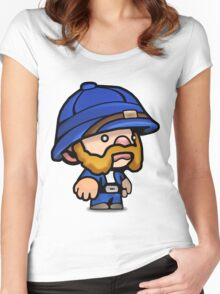 Spelunky - Blue Hunter Women's Fitted Scoop T-Shirt