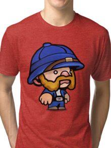 Spelunky - Blue Hunter Tri-blend T-Shirt