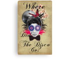 Retro Collection  --  Where Did The Disco Go? Canvas Print