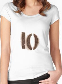 no.10 Women's Fitted Scoop T-Shirt