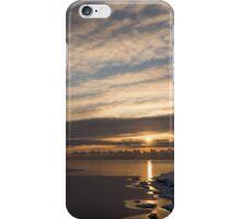 New Day on Ice - Sunrise on Lake Ontario  iPhone Case/Skin