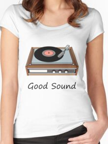 Vinyl,Record, Player Women's Fitted Scoop T-Shirt