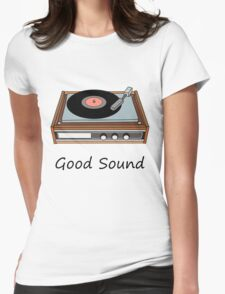 Vinyl,Record, Player Womens Fitted T-Shirt