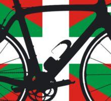 Bike Flag Basque (Big - Highlight) Sticker
