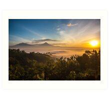 Sunrise over Borobudur Art Print