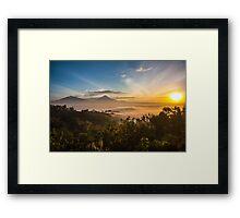 Sunrise over Borobudur Framed Print