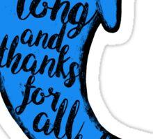 Thankful Dolphin Sticker