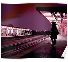 Chiswick Station Girl, Purple Poster