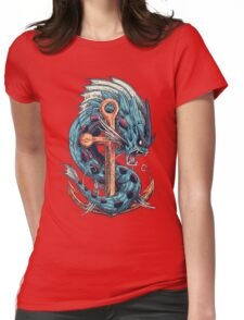 Mega Dragon Rage Womens Fitted T-Shirt