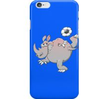 A Rhinoceros is the New Star of Soccer iPhone Case/Skin