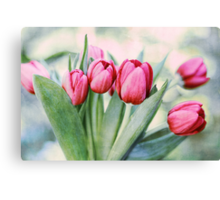 Twilight Tulips Canvas Print