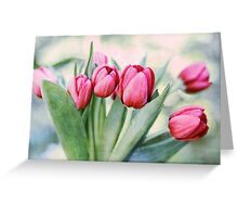 Twilight Tulips Greeting Card