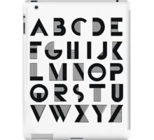 Deco Alphabet iPad Case/Skin