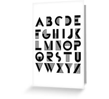 Deco Alphabet Greeting Card