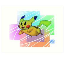 Springing Pikachu Art Print