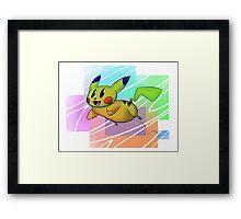 Springing Pikachu Framed Print