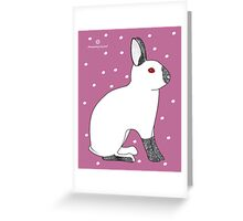Himalayan Agouti (Chinchilla) Rabbit Greeting Card